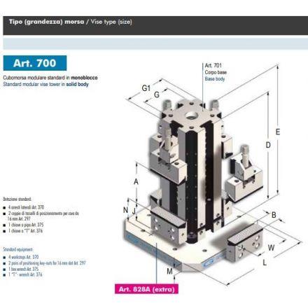 GERARDI standarta moduļu kubs ART.700 T.2X205