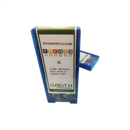 Plāksnīte APKT 1604 PDFR-G2 AL600